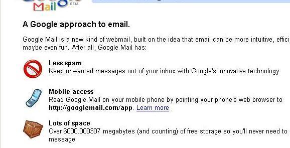 gmail ticks over to 6gb storage